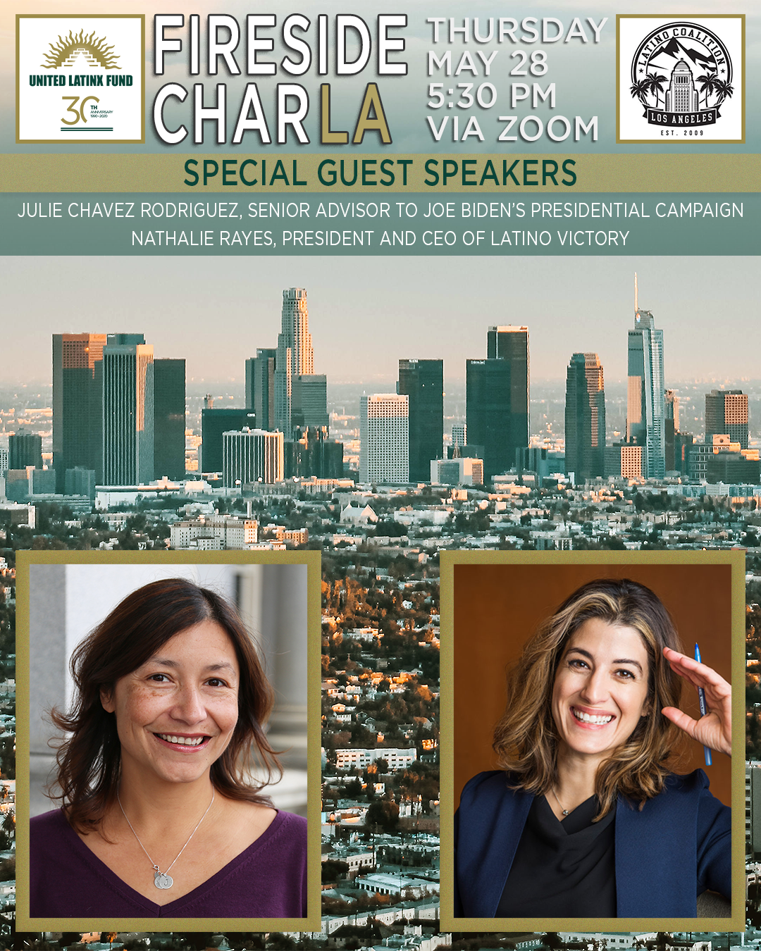 5/28/2020 Fireside CharLA - Featuring Nathalie Rayes & Julie Chavez Rodriguez